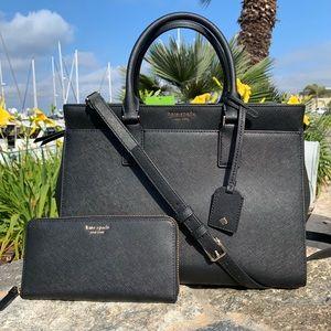 Kate Spade Cameron LG Leather Satchel / Wallet Set